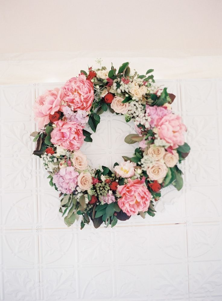 Fresh floral wreath