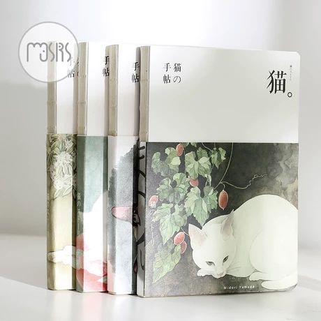 沐色猫的手帖裸装本和风日式猫咪空白纸笔记本手帐本记事本子文具