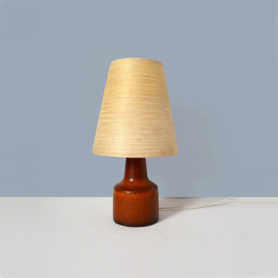Vintage Lotte Boustlund Lamp with Original Jute by MidModMomStore