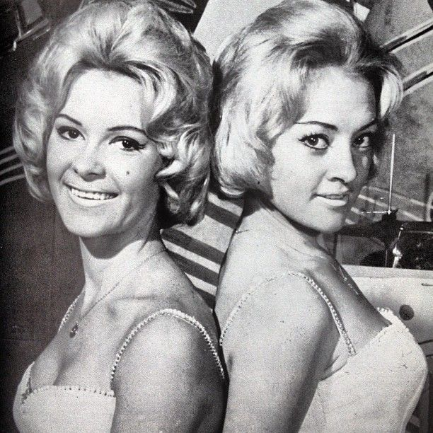 60s singing act Candy and Mandy - Daphne Kerr-Driscoll and Lillian Safargy. #vintage #retro #1960s #60s #sixties #australian_vintage_fashion