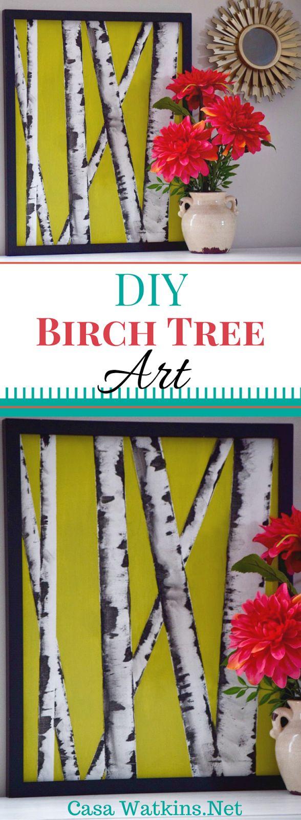 An easy to do DIY Birch Tree Art from Casa Watkins.net