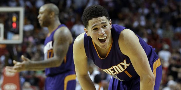 Suns' Devin Booker in pretty lofty teenage company- for more read here. http://arizonasports.com/story/582983/suns-devin-booker-in-pretty-lofty-teenage-company/