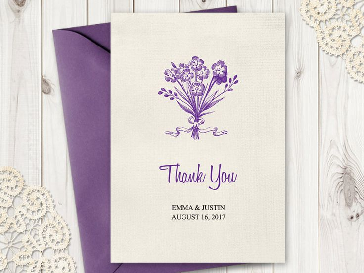 10 best Wedding Invitation Templates  - microsoft word thank you card template