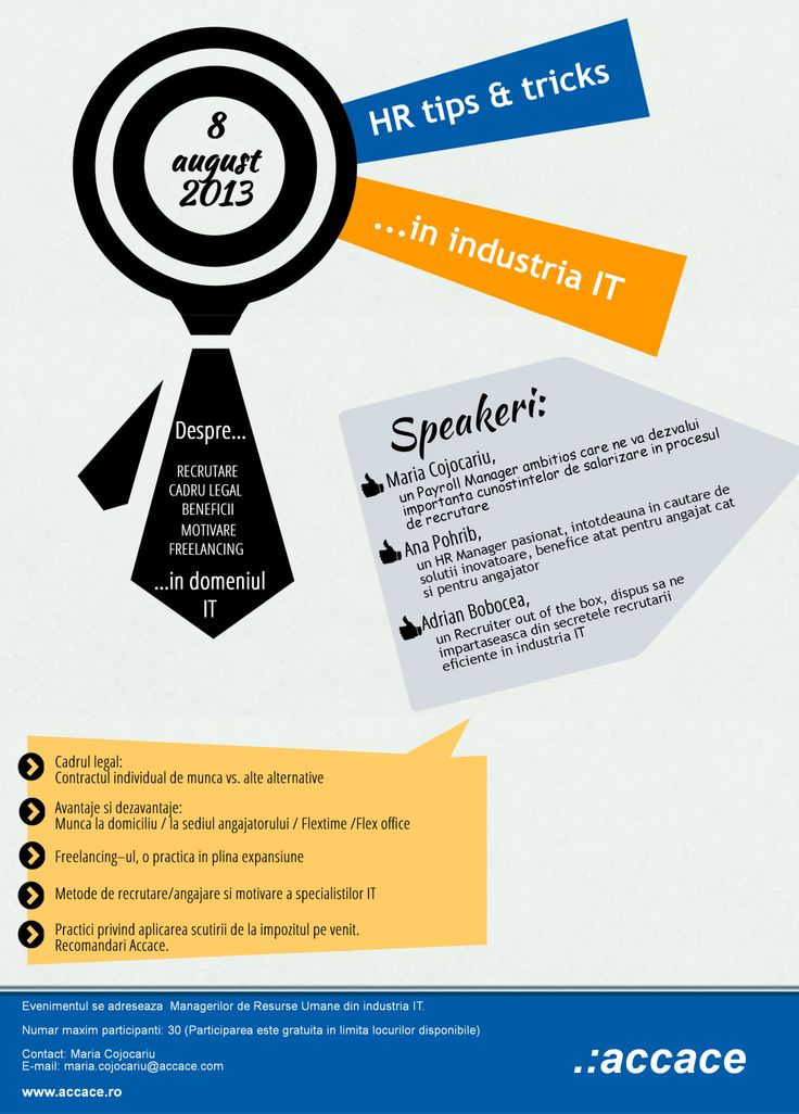 HR tips & tricks in IT industry ( a Romanian Event)