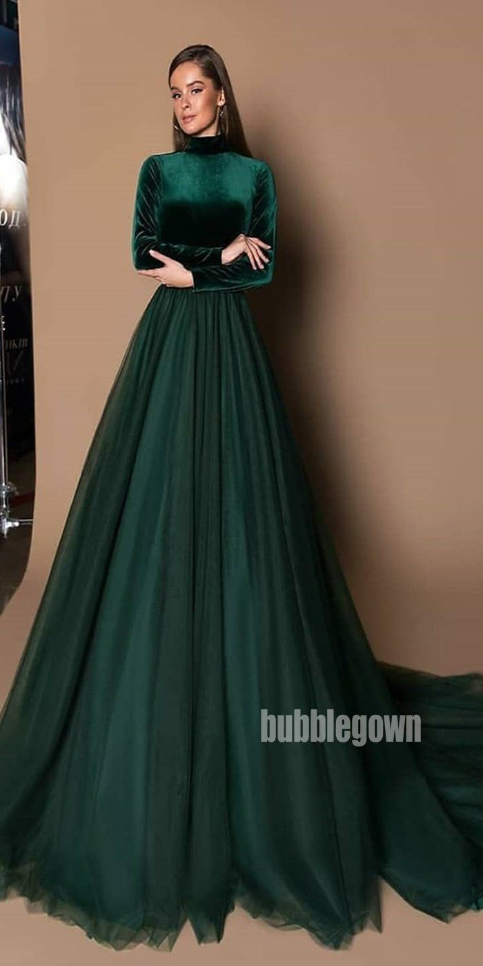 Teal Green Long Sleeves High Neck Long Prom Dresses Fp1118 Prom Dresses Long Long Sleeve Dress Formal High Neck Prom Dresses Long [ 1400 x 700 Pixel ]