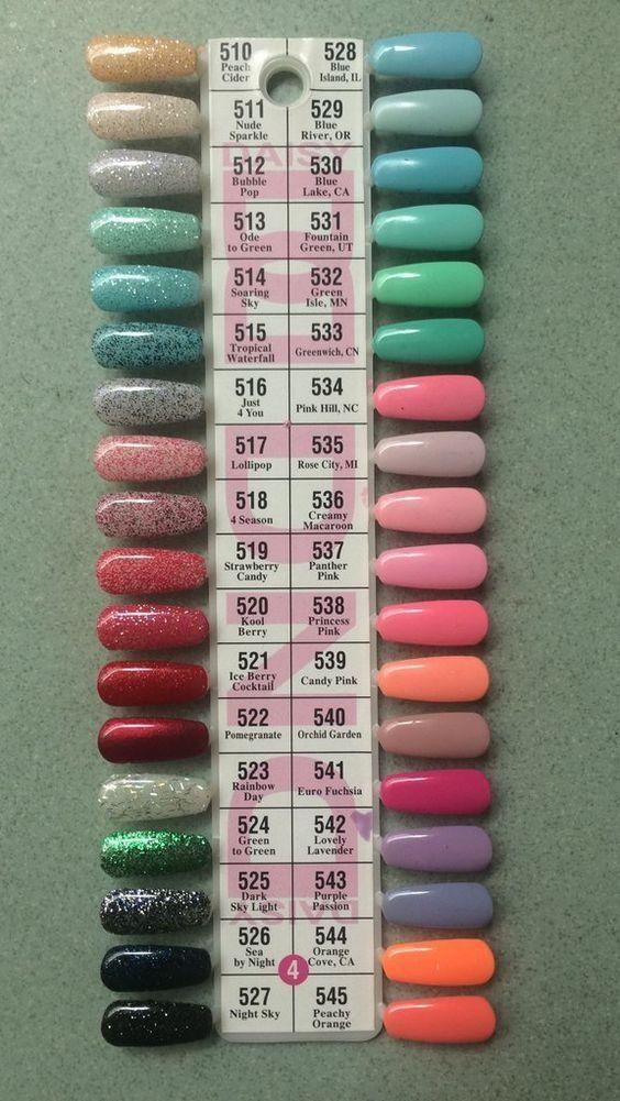 Color Palette Gel/Shellac Polish DND Page 4
