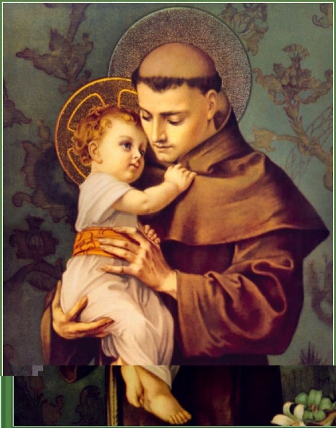 PRAYER TO SAINT ANTHONY, CONSOLER OF THE AFFLICTED