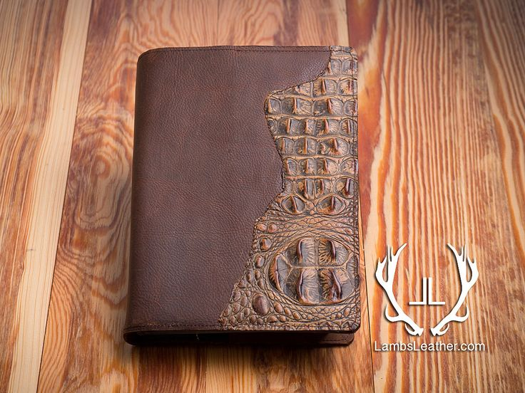 Embossing Fabric Book Cover : Leather bible cover genuine crocodile embossed