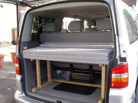 Bed in Shuttle/Caravelle? Home made.. - VW T4 Forum - VW T5 Forum