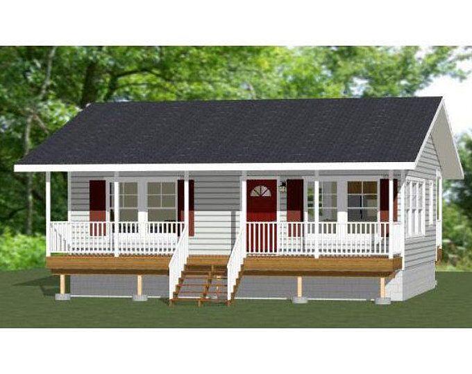 30x24 House -- 1-Bedroom 1-Bath -- 720 sq ft -- PDF Floor ...