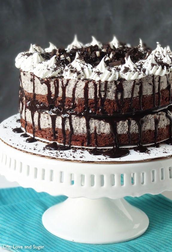 Pastel de helado de crema y galletas Oreo   – Desserts!!
