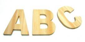 Houten letters per stuk