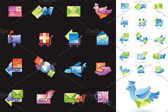 Mail Delivery by LEKS illustrations on @creativemarket