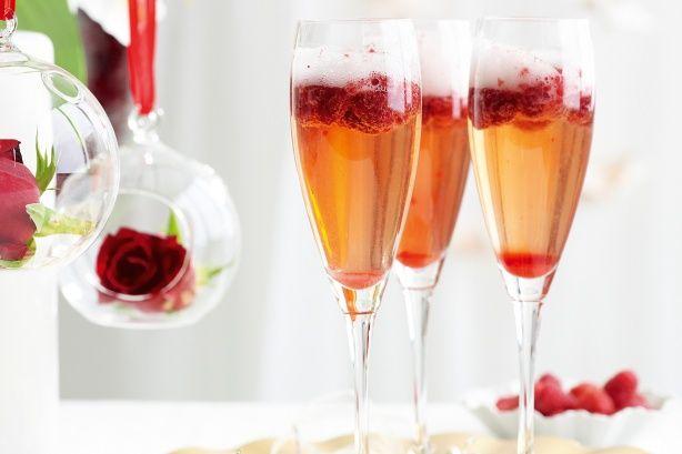 Pomegranate & berry sparkling Christmas in July recipes www.taste.com.au