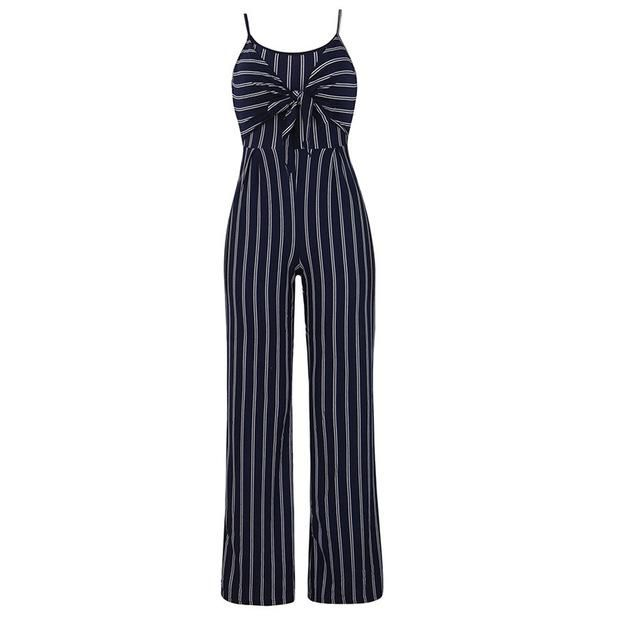SFE Womens Strappy V Neck Bandage Fashion Loose Playsuit Party Clubwear Jumpsuit