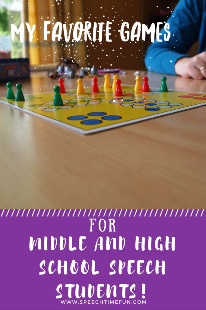 My Favorite Games for Middle and High School Speech Students: Keep them motivated, engaged, and work on speech and language goals!
