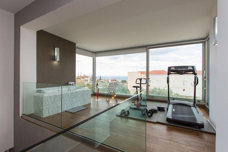 Villa Kastellakia in Rethymno, Crete #villa #rethymno #crete #greece #vacation_rental #luxurious_accommodation #privacy #holidays_in_Crete #visit_greece #gym_area