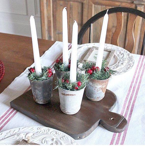 Red Striped Linen Table Runner Fine Luxury European Linens French Farm House - Hallstrom Home - 1