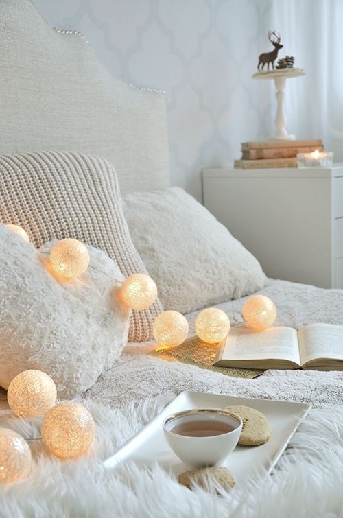 cottonball lights in my bedroom: