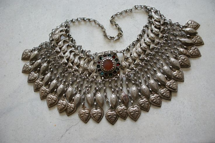 afghan pashtun necklace an silver necklace from