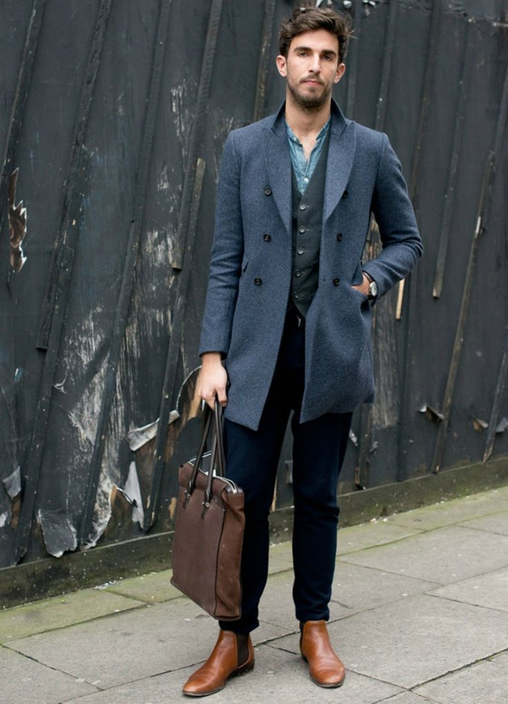 brown leather chelsea boots for men