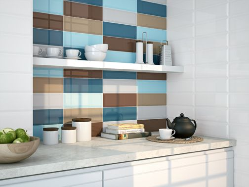 Another interesting colour combo. Loft tiles by Ape Ceramica.