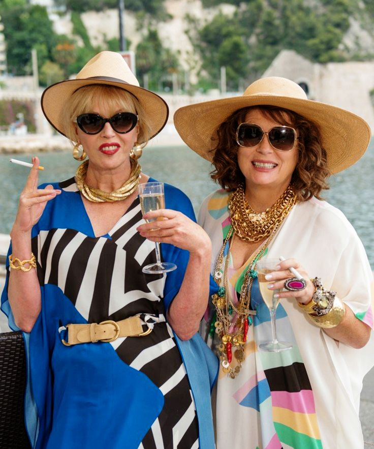 """Absolutely Fabulous Movie Backstory, Jennifer Saunders   Catch up on the """"Ab Fab"""" universe before heading to the cinemas on Friday. #refinery29 http://www.refinery29.com/2016/07/111878/ab-fab-movie-details"""