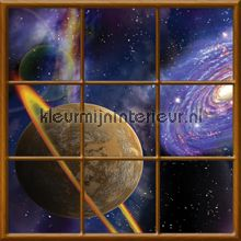 Planet fotobehang Kleurmijninterieur Ruimte Heelal