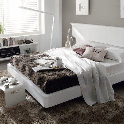 dormitorio de matrimonio lacado blanco mila