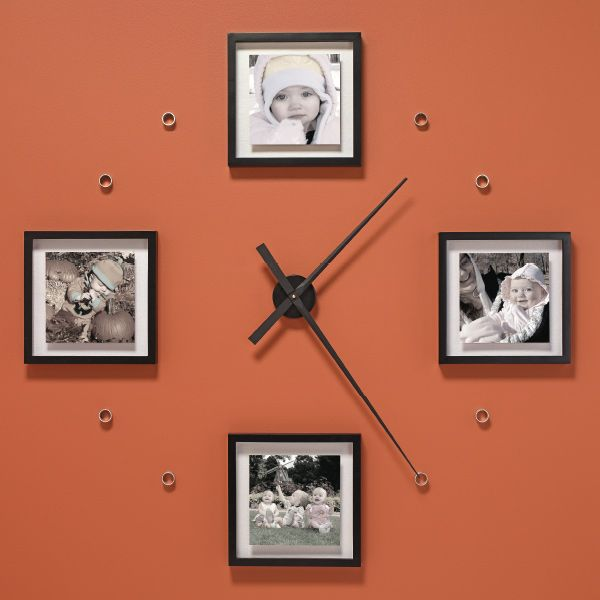 Make an Oversized Photo Wall Clock.  Love the idea and can change pictures with seasons:)