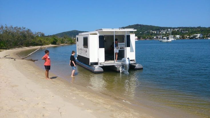 Transformis Inspire expandable houseboat spends the night on land or water