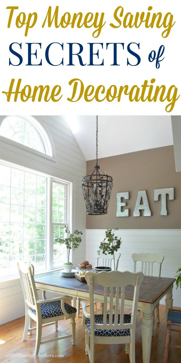 Top money saving secrets for decorating your home that will save you thousands of dollars.