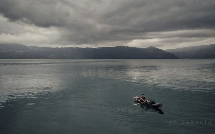 Lake toba in afternoon