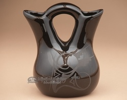 Native American Wedding Vase 5 75 Black On Wv90