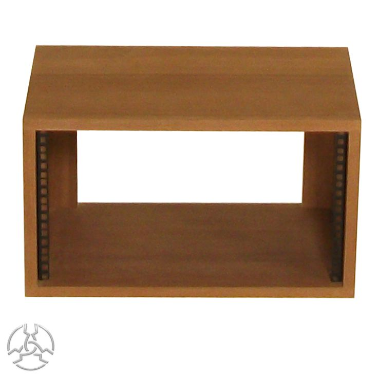 SMP6VSap 19 inch 6U Rack Pod- £84.00 - Inc vat.   Description: Supplied assembled with front rack strip fitted. Manufactured from 19mm Real Wood Sapele Veneered MDF with 2mm edge-banding on the front (not on back) and a wax finish. All rack units are supplied with 4 nuts, bolts and washers.