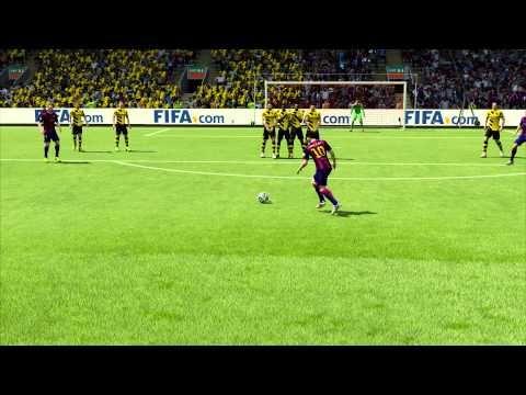 Le gros bug FIFA 15 sur un coup franc de Lionel Messi (vidéo) - http://www.actusports.fr/120140/gros-bug-fifa-15-coup-franc-lionel-messi-video/