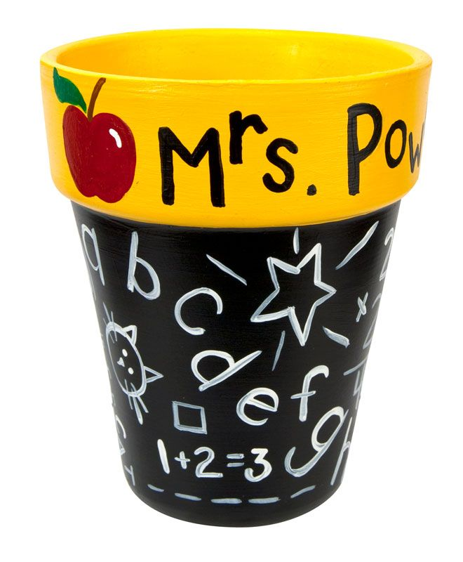 Teacher Supply Container project from DecoArt