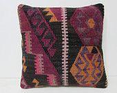 kilim pillow 18x18 throw pillow couch modern pillow cover rustic pillow cover striped pillow cover medallion pillow geometric pillow 28915