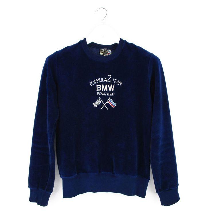 Vintage Trigema BMW Tracksuit Top Mens Medium M 80s Velour Sweatshirt Formula 2  #Trigema #SweatshirtsFleeces