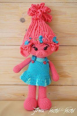 Poppy Trolls häkeln – Anleitung kostenlos – crochet pattern free