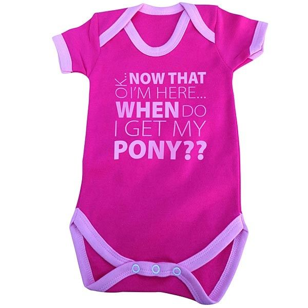 23 best baby and toddler horse gifts images on pinterest horse pink when do i get my pony baby grow the horse diva negle Images