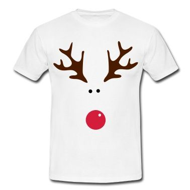 Simple yet fun Rudolph design.T-Shirts.