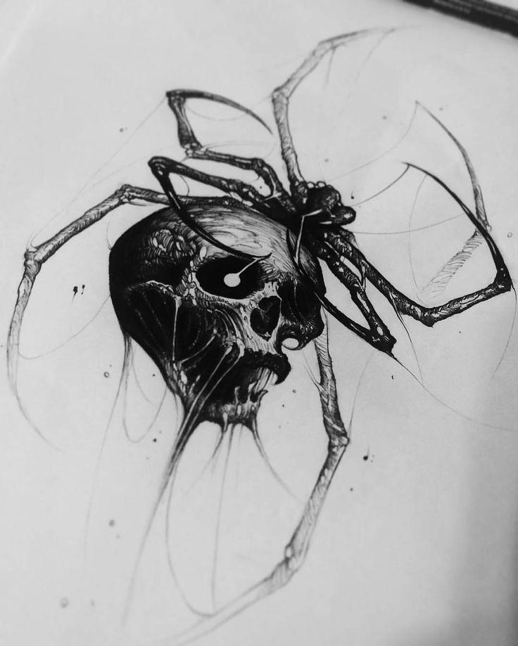 "20.8 mil curtidas, 52 comentários - World of Pencils (@worldofpencils) no Instagram: ""Spider Skull by artist @brandon__herrera who will be attending the @goldenstatetattooexpo this…"""