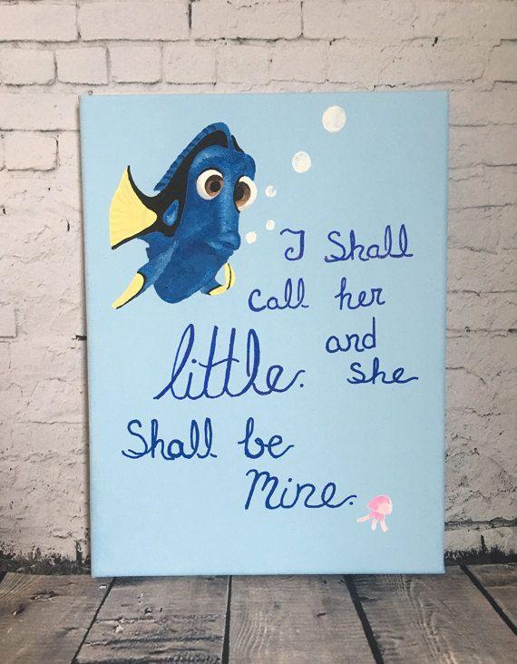 Nemo / Dory Sorority Big Little Canvas by SamsSororityStash