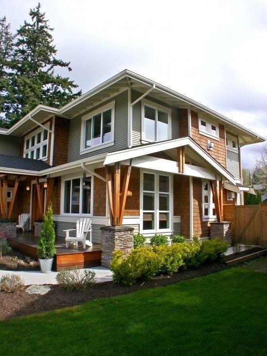 Best 25 modern craftsman ideas on pinterest for Contemporary craftsman homes