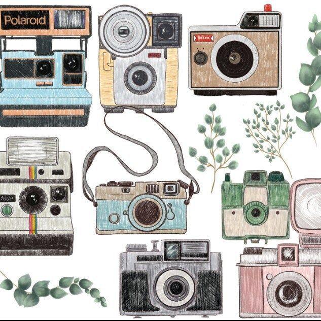 Camera Png Clipart Vintage Camera Clipart 10x10 Etsy In 2021 Camera Clip Art Clip Art Vintage Camera Art