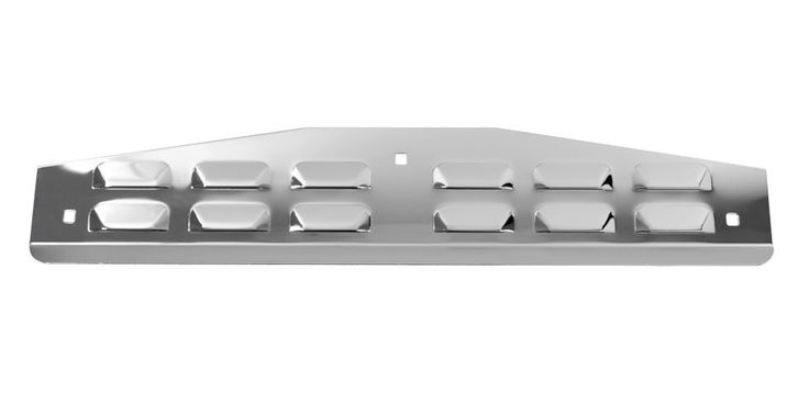 Stainless Steel 304, Bottom Mud Flap Plate, Louvered 5 X 24 W/V Bend And 3 Bolts