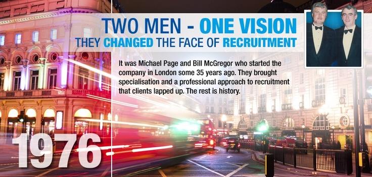Two Men One Vision. Recruitment, Michael, Two men