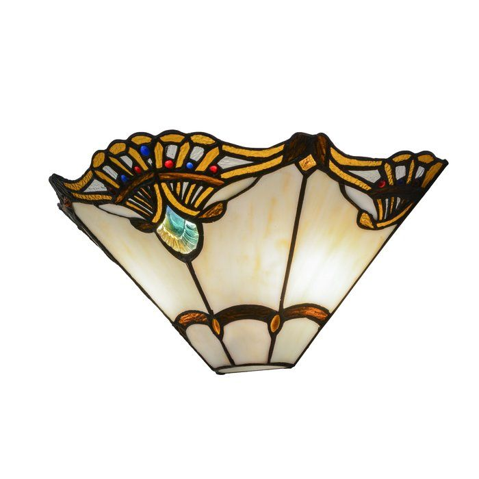 2 Light Shell With Jewels Wall Sconce Wall Sconces Tiffany Style Tiffany Art