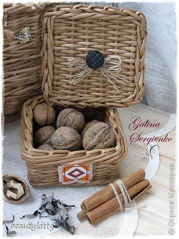 Поделка изделие Плетение Vine Unity Ткань Трубочки бумажные фото 5
